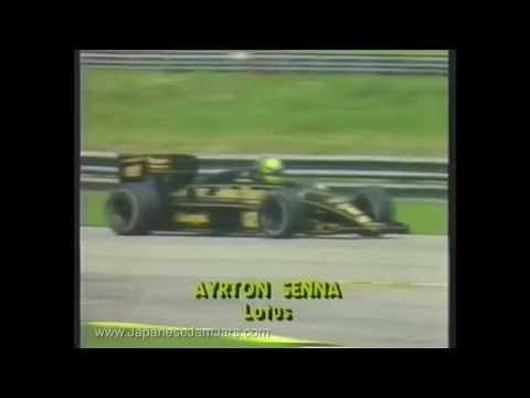 Formula 1 Brazilian Grand Prix 1986 with Senna, Prost, Mansell
