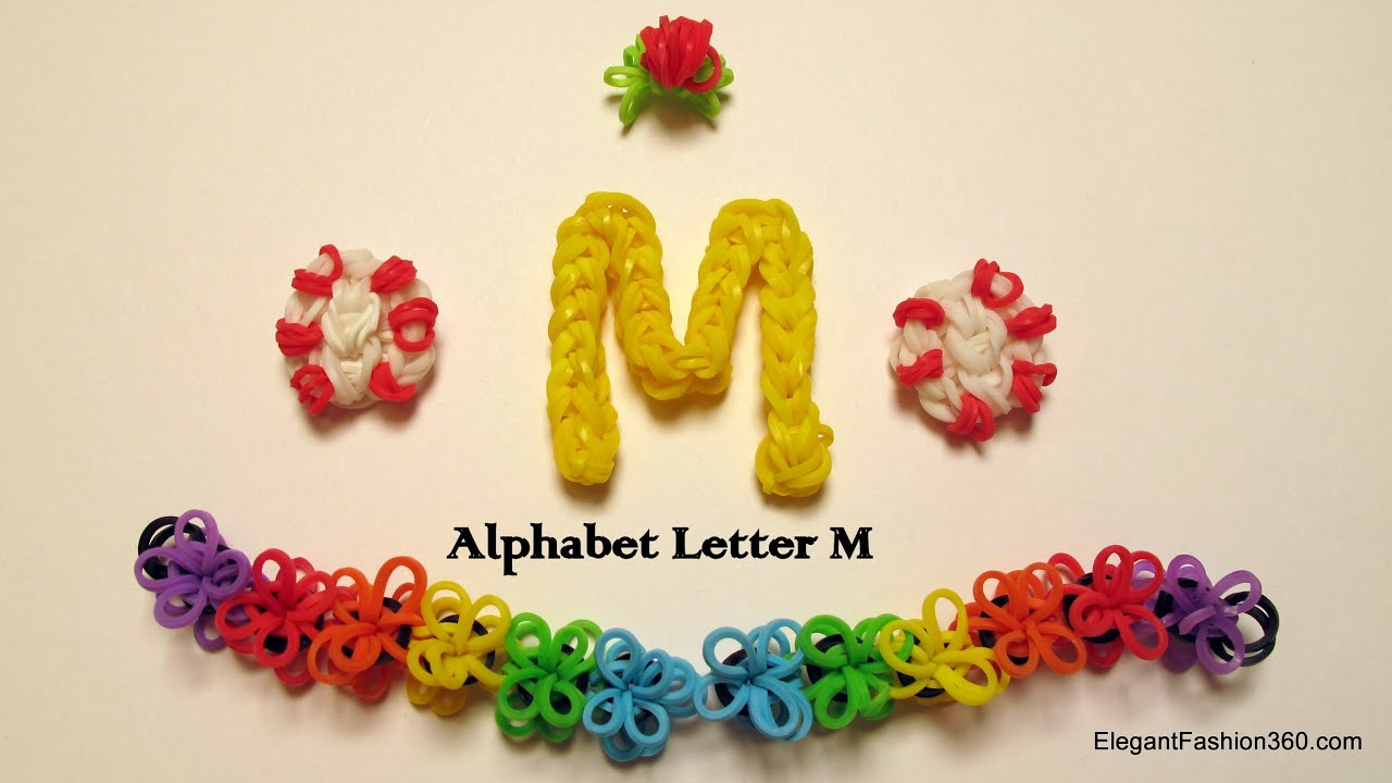 a charm letter alphabet youtube k loom just crochet hook rainbow bands using watch