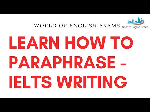 Ielts writing task 2 | paraphrasing the question |