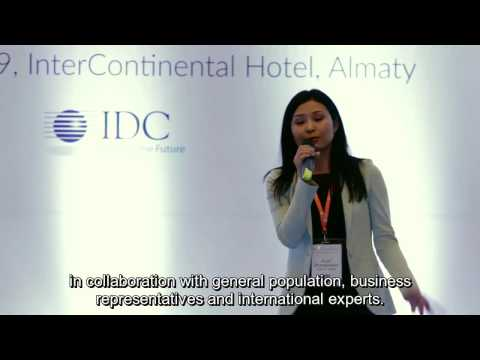 Welcoming remarks at IDC CIO Summit 2016 from CEO of Zerde Assel Zhiyenbayeva