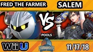 DHATL18 Smash 4 - Fred the Farmer (Meta Knight) Vs. Liquid | Salem (Bayonetta) - Wii U Pool C - WSF