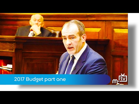 Treasury Minister Alf Cannan MHK gives his first Manx budget.