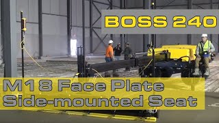 Ligchine International ScreedSaver BOSS 240 With New M18 Face Plate and Side mounted Seat