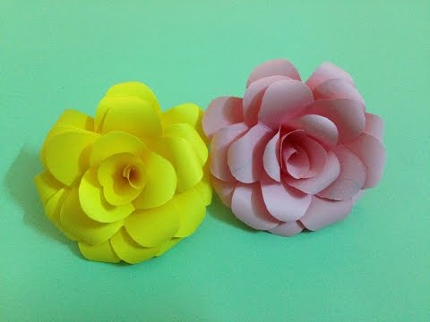 How To Make Rose Paper Flower