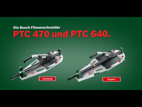 bosch stellt vor fliesenschneider ptc 470 und ptc 640 youtube. Black Bedroom Furniture Sets. Home Design Ideas