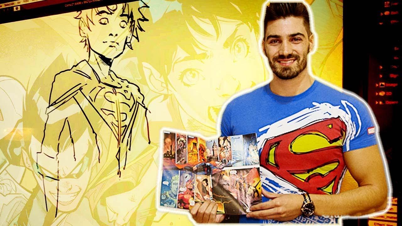 Con Jorge Jiménez, dibujante de DC comics - YouTube
