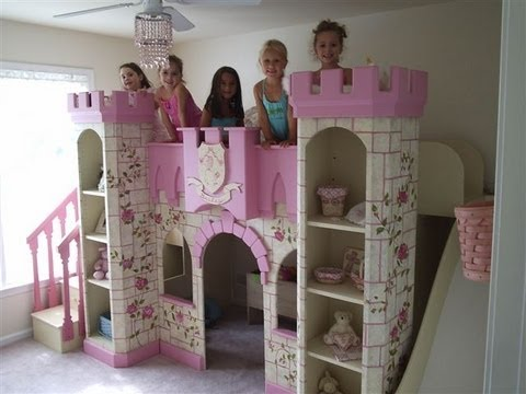 Girls princess room decorating ideas girls beds unique for Girls bedroom decorating ideas with bunk beds