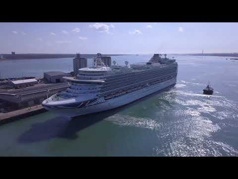 Azura Cruise Ship Arriving In Southampton From The Caribbean