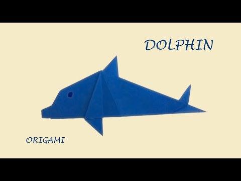 Dolphin - easy origami animal for Fun DIY   Sea life