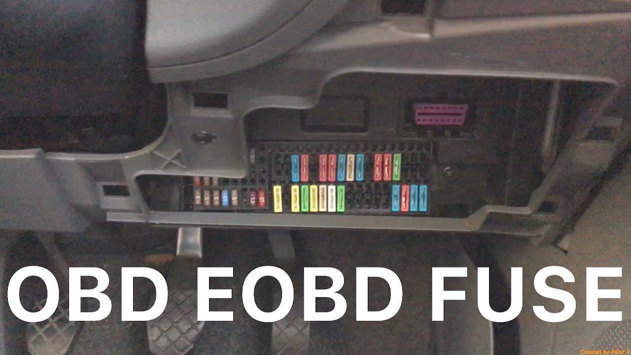 Seat Ibiza Mk4 Eobd  Obdii Port And Fuses