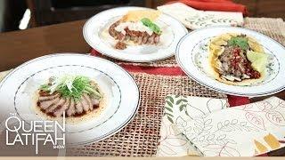 Nadia G surprises Queen Latifah with her favorite Dish