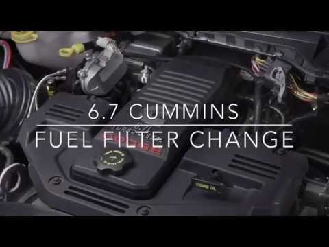 6.7 Cummins Fuel Filter Change Dodge RAM 2500 / 3500 - YouTube