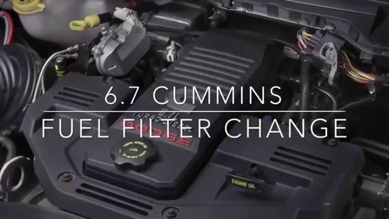 2015 Ram 2500 >> 6.7 Cummins Fuel Filter Change Dodge RAM 2500 / 3500 - YouTube
