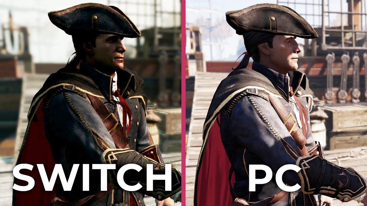Assassin S Creed 3 Remastered Switch Vs Pc Vs Original