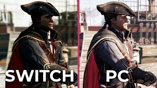 Assassin's Creed 3 Remastered – Switch vs. PC vs. Original Graphics Comparison Frame Rate Test