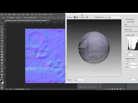 Making Bump Map And Normal Map In Photoshop