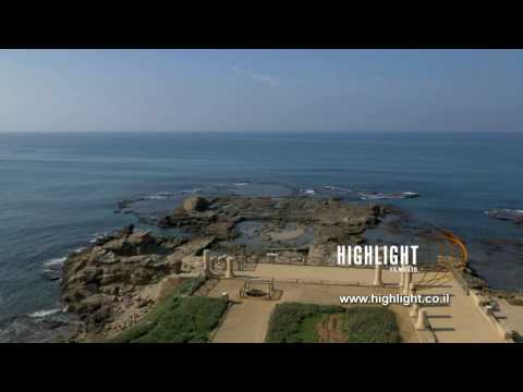 DC4K 006 G Stock footage of the ancient Caesarea ancient harbor and archaeological park