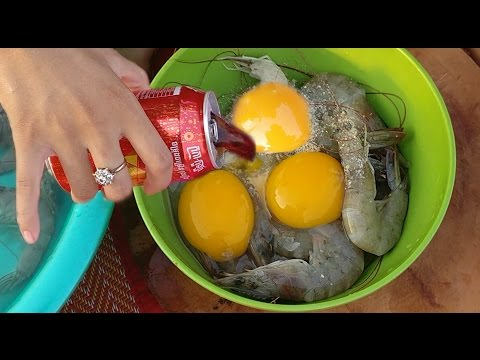 Thumbnail: Wow! Beautiful Girl Cooking Shrimp With Coca Cola - How To Cook Shrimp In Cambodia