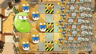 Plants Vs Zombies 2 Ancient Egypt - Laser Bean vs 99,999 Zombies