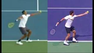 Nick Kyrgios - Imitating Roger Federer