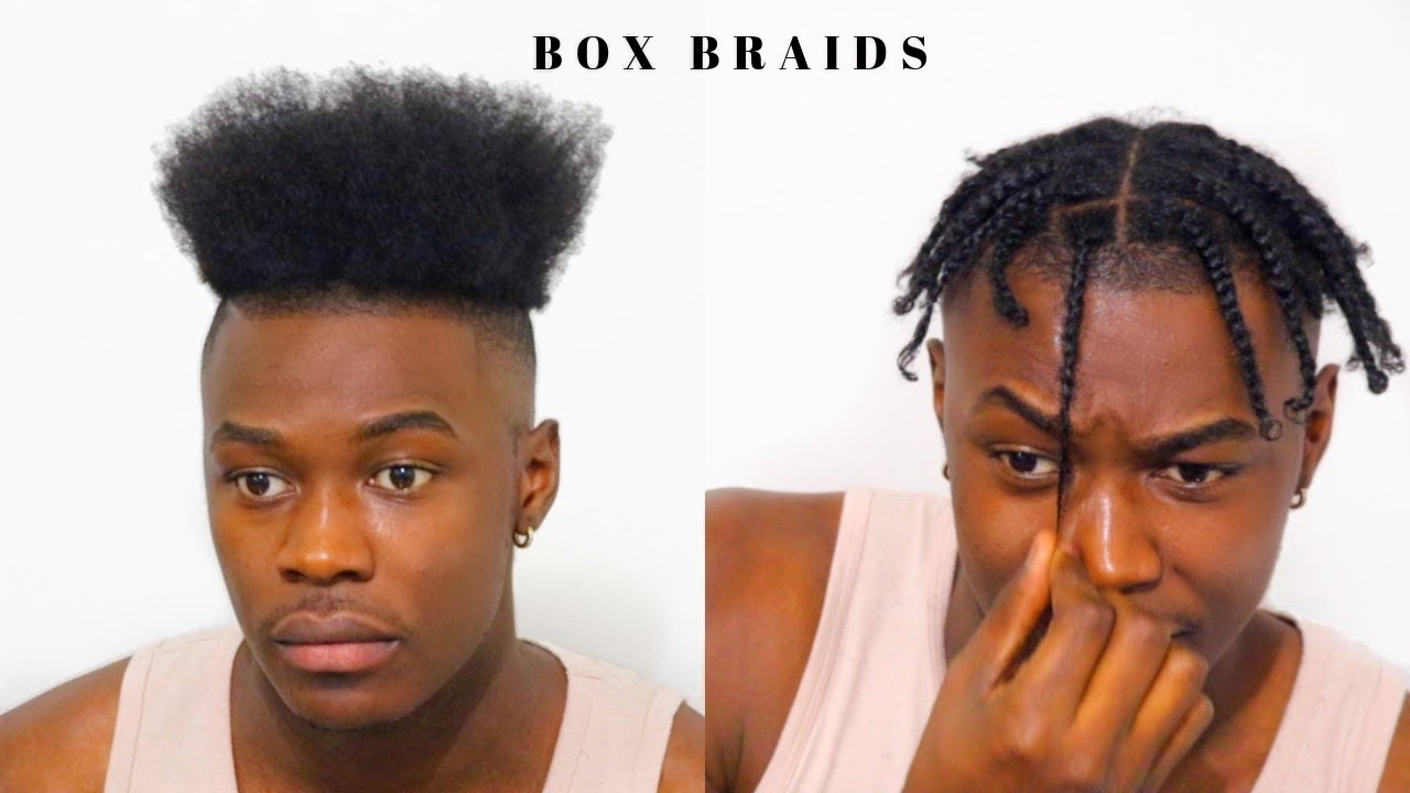 men's box braids short hair