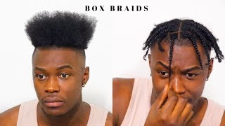 Men S Box Braids For Short Hair High Top Hairstyle Youtube