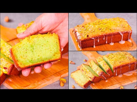 PISTACHIO POUND CAKE | EGGLESS & WITHOUT OVEN | PISTACHIO TEA TIME CAKE | PISTACHIO LOAF CAKE