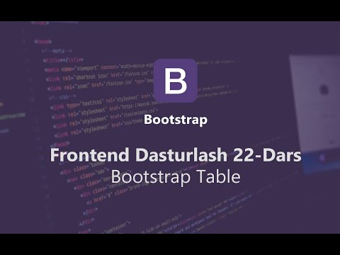 Bootstrap | Table