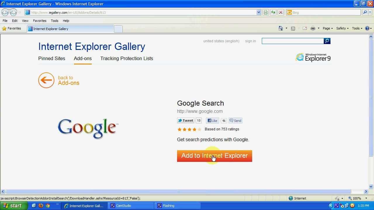 Google search in Internet Explorer - YouTube