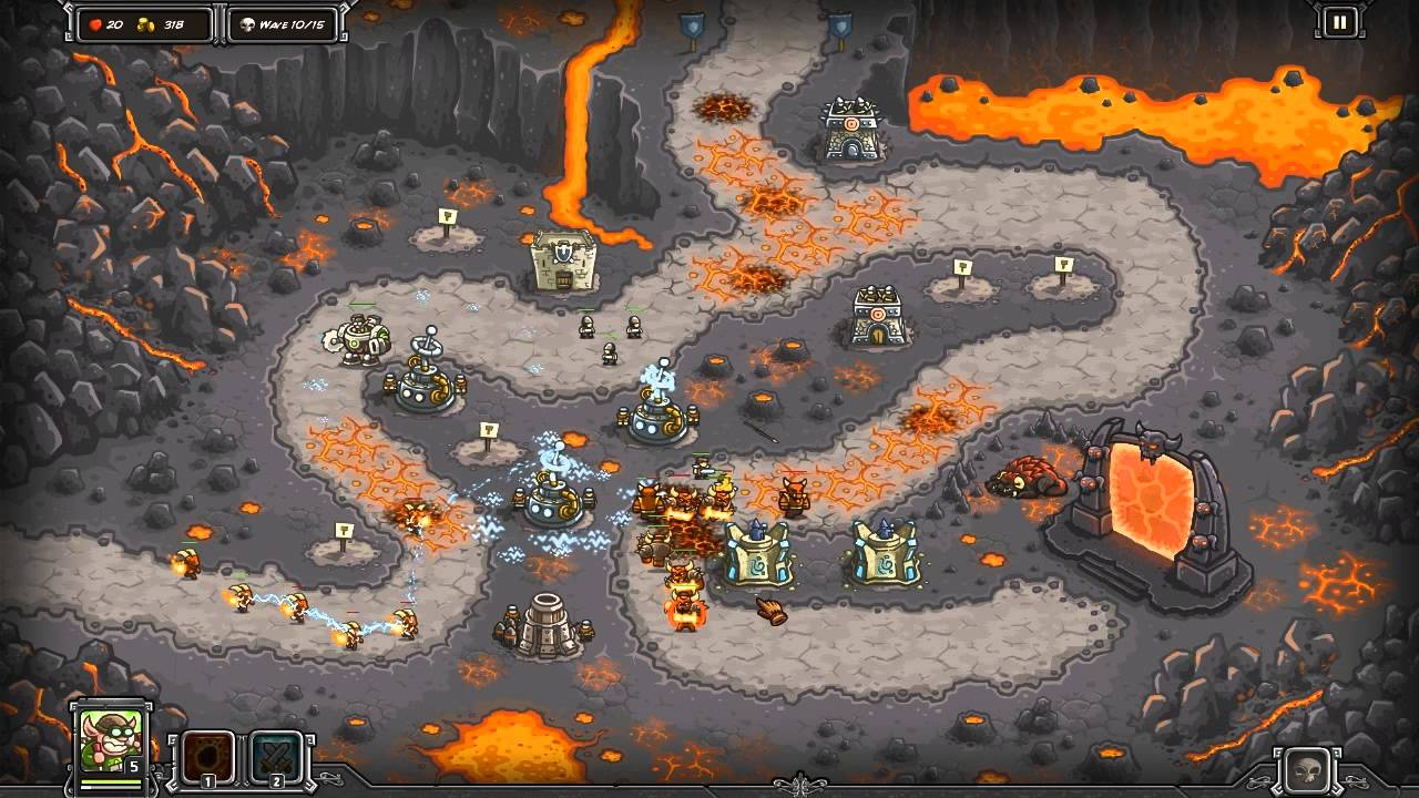 Kingdom Rush - Pit of Fire - 3 Stars