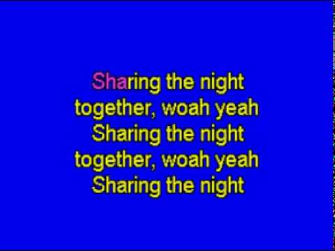 SHARING THE NIGHT TOGETHER - karaoke