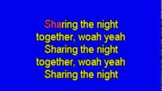 SHARING THE NIGHT TOGETHER - karaoke
