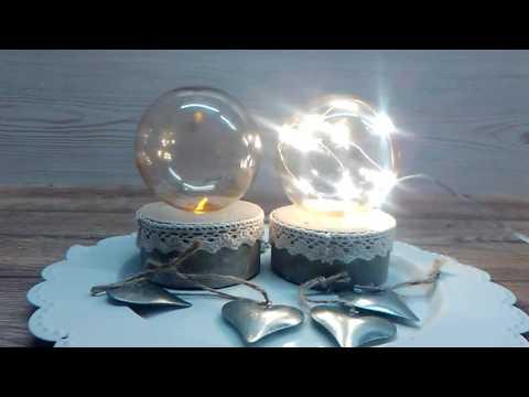 diy beton kleine lampen mystic light youtube. Black Bedroom Furniture Sets. Home Design Ideas