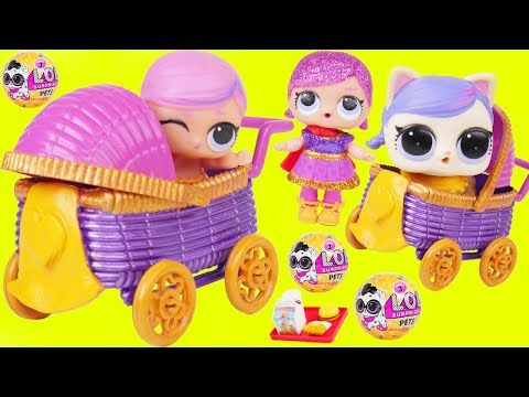 Super BB Baby Custom Big LOL Surprise Dolls Strollers + Lil Sisters 5 Layer - Giant Toy Wave 2 Video