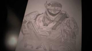 Halo Reach Spartan   Drawing in Pencil