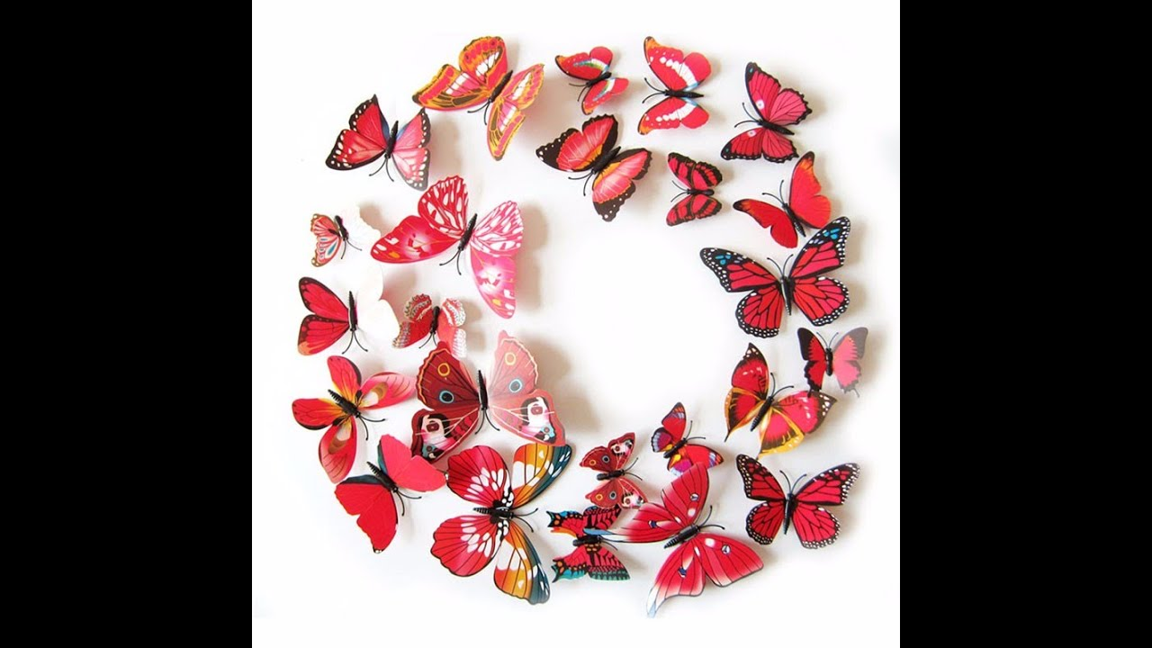 Butterfly Stickers For Walls - Led Butterfly Night Light 3D Wall ...