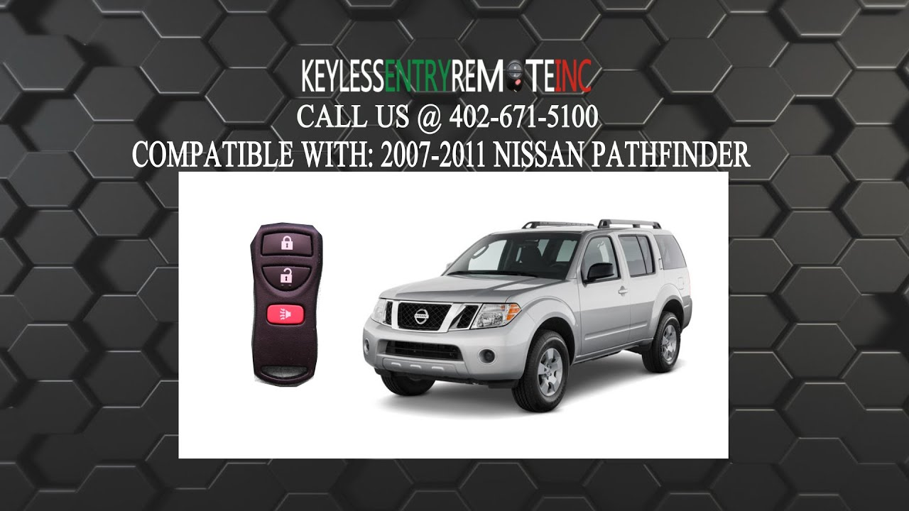 How To Replace Nissan Pathfinder Key Fob Battery 2007 2008 ...