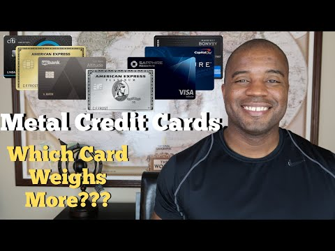 Metal Credit Cards | Which Premium Card Is The Heaviest?