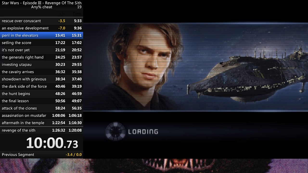 Cheat Any In 1h 17m 34s By Pryde Star Wars Episode Iii Revenge Of The Sith Speedrun Com