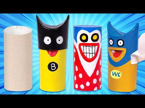 DIY Superhero Crafts from Toilet Paper Rolls - Fun & Easy! | Box Heroes Compilation