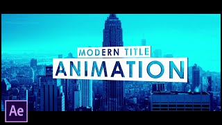 After Effects Tutorial - Modern Title Intro Animation in After Effects