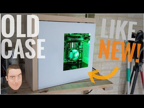Make that OLD pc case like NEW - DIY case MOD 2018