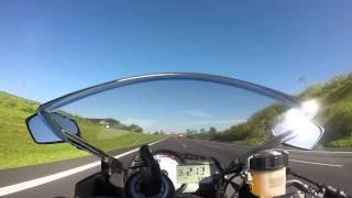 Top Speed ZX6R!!! Acompanhando BMW HP4 e ZX10R...