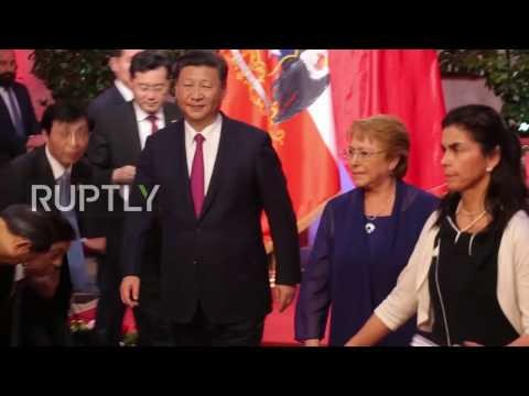 Chile: Free trade agreements on the table as Xi Jinping meets with Bachelet