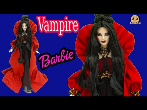 Vampire Haunted Beauty Gold Label Collection Collectors Barbie Doll Review Cookieswirlc Video