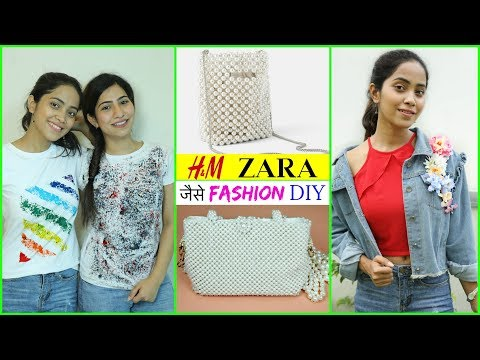 ZARA, H&M जैसे DIY Fashion Jacket, Pearl Bag & T-Shirt | #Teenagers #Styling #Anaysa #DIYQueen