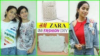 ZARA, H&M जैसे DIY Fashion Jacket, Pearl Bag & T-Shirt | #Teenagers #Styling #Anaysa #DIYQueen