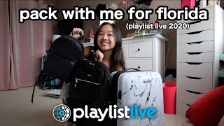 pack with me for florida! playlist live 2020 | Nicole Laeno