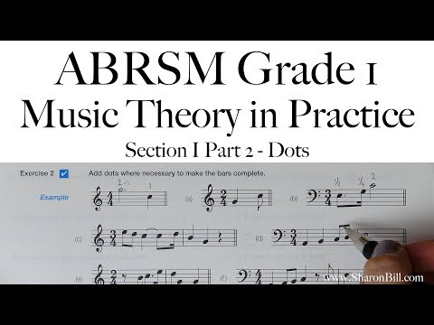 ABRSM Grade 1 Music Theory Section I Part 2 Dots with Sharon Bill