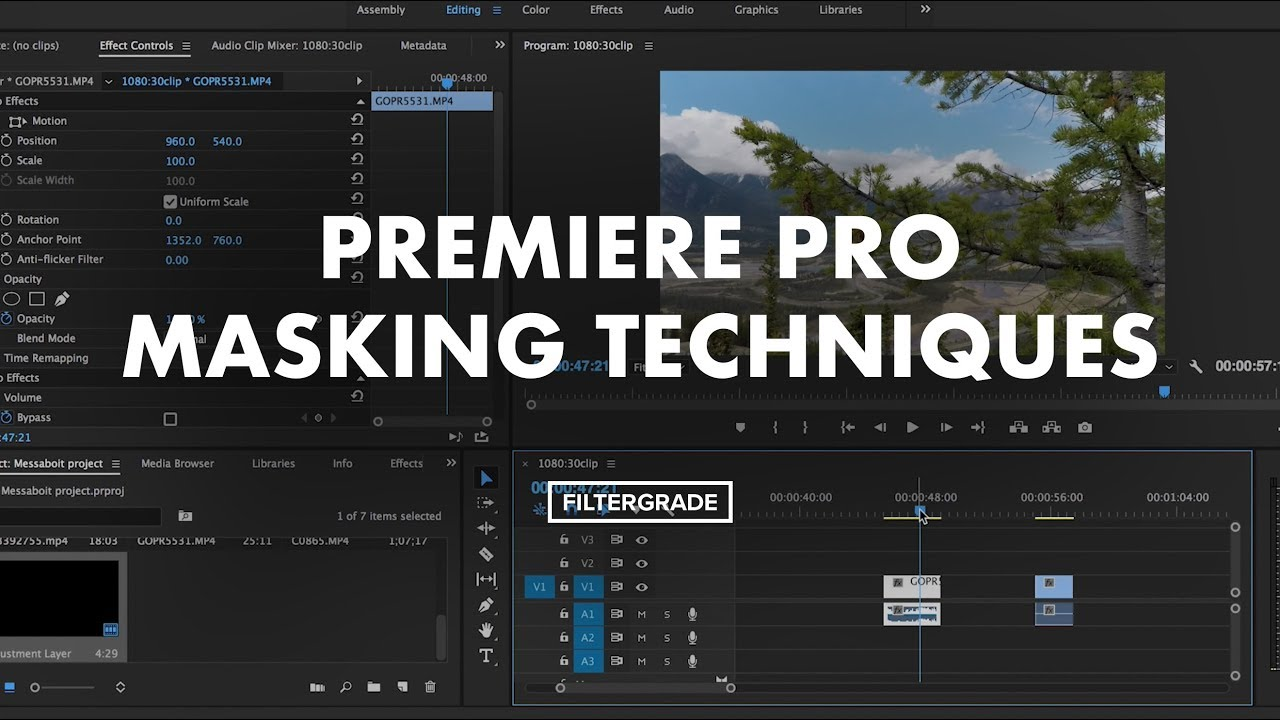 Premiere Pro Masking Techniques for Adjustments and Transitions